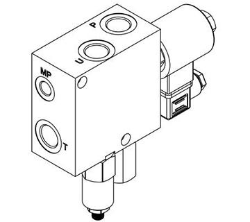 Bloc régulation débit avec limiteur de pression